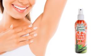 Hair Erase rociar, ingredientes, cómo aplicar, como funciona, efectos secundarios